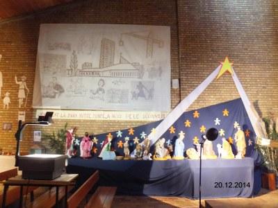 Crèche église Ste Trinité de Loos